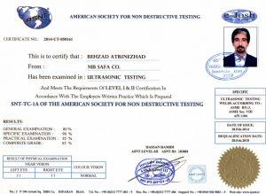 گواهینامه ASNT آمریکا